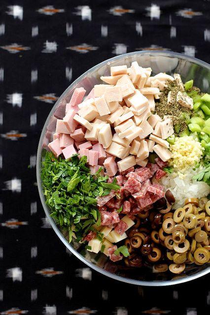 Muffuletta Pasta Salad by joy the baker by joy the baker, via Flickr