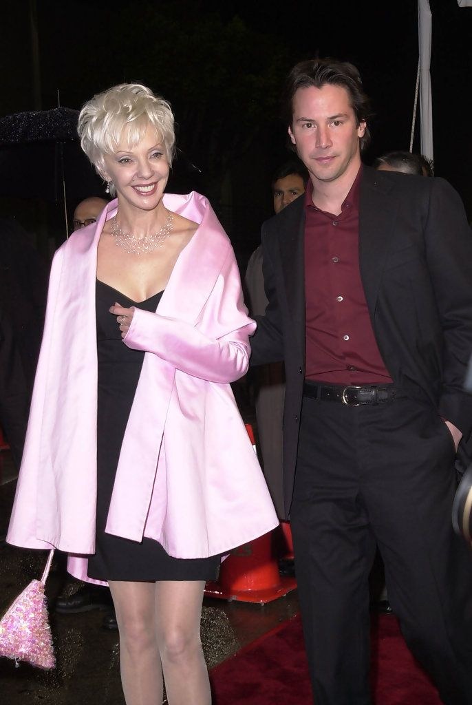 KEANU REEVES and his mother Patricia Taylor at the world premiere, in Los Angeles, of his new movie The Matrix Revolutions. October 27, 2003