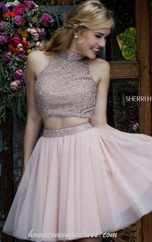 Blush Sherri Hill 11287 Beads Two-piece Homecoming Dress