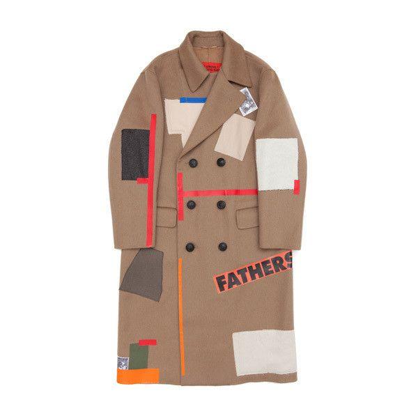 Raf Simons / Coats & Jackets | Storm ❤ liked on Polyvore featuring outerwear, coats, coats & jackets, raf simons, brown coat, pattern coat and print coat