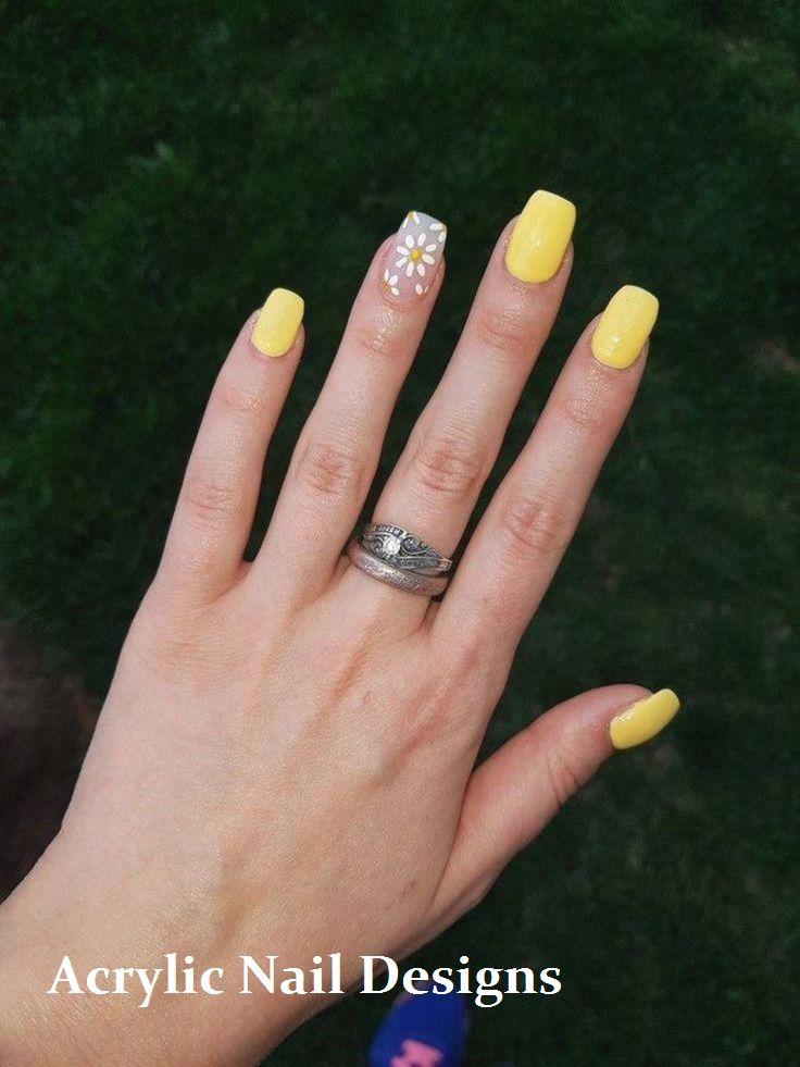20 Great Ideas How To Make Acrylic Nails By Yourself Naildesigns Nailideas Yellow Nails Design Nail Designs Summer Wedding Acrylic Nails