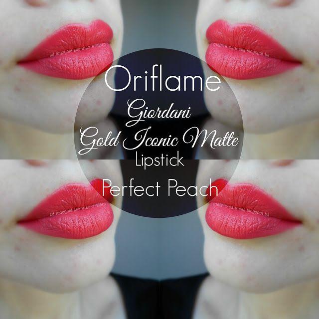 Oriflame - Giordani Gold Iconic Matte Lipstick - Perfect Peach matte Oriflame ruž