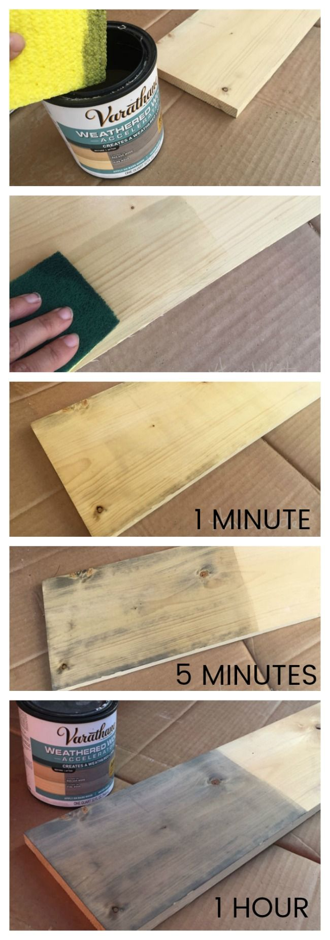 Varathane Weathered Wood Accelerator | Ana White Woodworking Projects