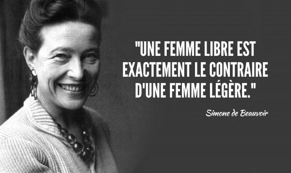 citations de Simone de Beauvoir, féministe mais pas que