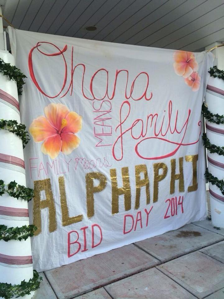 Alpha Phi UConn, BID DAY Fall 2014! Ohana means Phamily #UCONN #ALPHAPHI #APHI