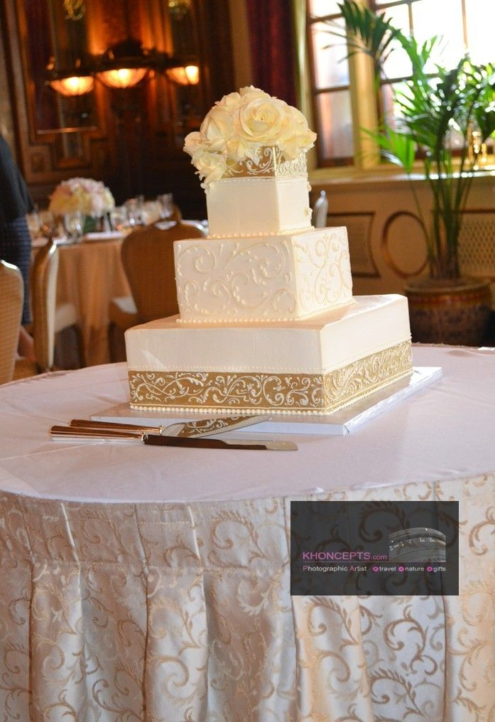 wedding bakeries in sacramento ca%0A Ivory and Gold wedding cake