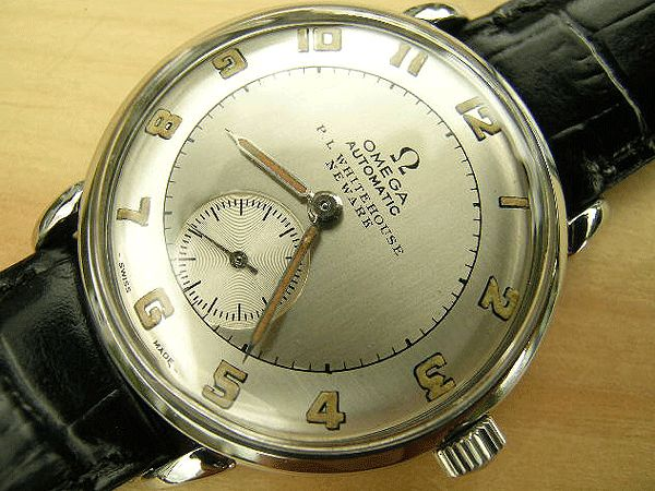 Omega bumper steel early automatic Newark dial 1946 | Vintage Watches