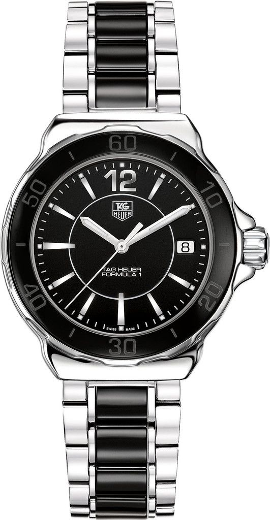 TAG Heuer Watch Formula 1 Watch #add-content #bracelet-strap-ceramic #brand-tag-heuer #buckle-type-folding-clasp #case-material-steel #case-width-37mm #date-yes #delivery-timescale-call-us #dial-colour-black #gender-ladies #luxury #movement-quartz-battery #official-stockist-for-tag-heuer-watches #packaging-tag-heuer-watch-packaging #subcat-formula-1 #supplier-model-no-wah1210-ba0859 #warranty-tag-heuer-official-2-year-guarantee #water-resistant-200m