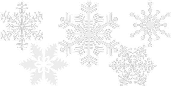 Snowflakes free vector. More Free Vector Graphics, www.123freevectors.com