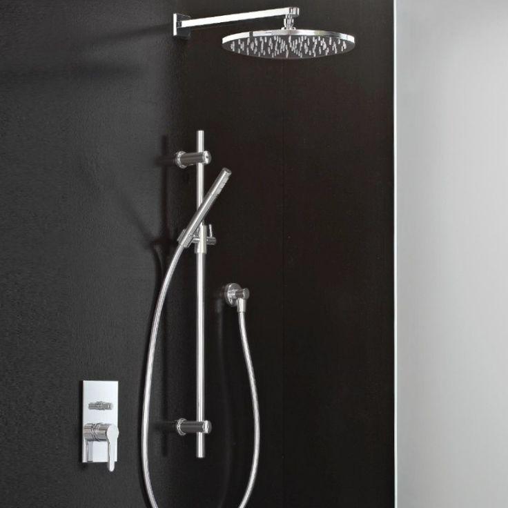Klab | 2-Wege-Unterputzmischer 2749 | 300mm Kopfbrause und Brausestange mit Wandanschlussbogen | chrom