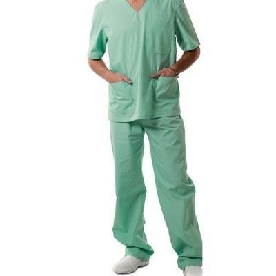 Completo Ospedaliero Prestige. Tessuto 100% cotone. Disponibile nel colore GESSATO VERDE.