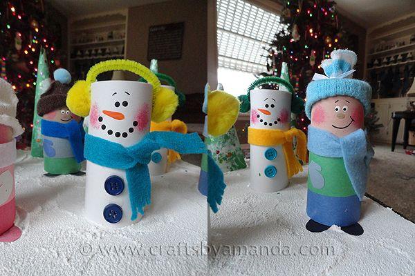 Toilet Paper Tube Snowman