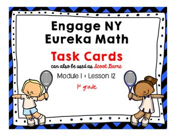 Engage NY / Eureka Math - Math Centers or Task Cards - Scoot Game12 Task Cards -Colored Set and White Background Set (to save on ink).This product is meant to be a companion to Engage NY/ Eureka Math. I am not affiliated with Engage NY/ Eureka Math.Students can check their answers by scanning QR code included with task cards OR an answer key is also included.Use these to review your lesson or give extra practice!Task Cards for Early FinishersMath Center to review lessonWhole group Scoot…