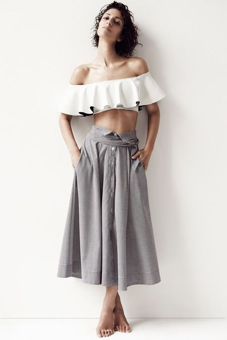 Lisa Marie Fernandez | Resort 2015 Collection | Style.com: I really like this skirt!