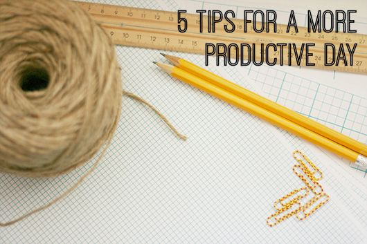 5 Tips for a More Productive Day by Dannielle Cresp for Creative Womens' Circle
