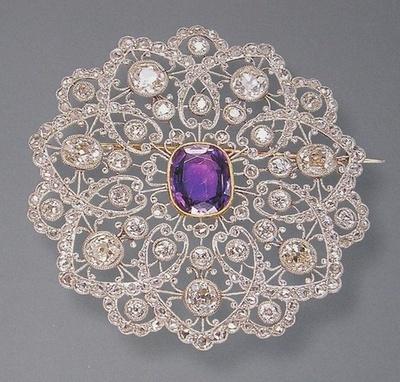 exquisite platinum (and diamond) Edwardian brooch.