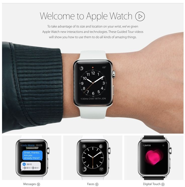 Apple Adds New 'Guided Tours' Page to Apple Watch Site