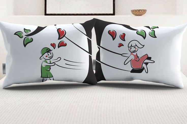 "StellaMia ""TreeSwing"" Pillowcase Set for Couples"