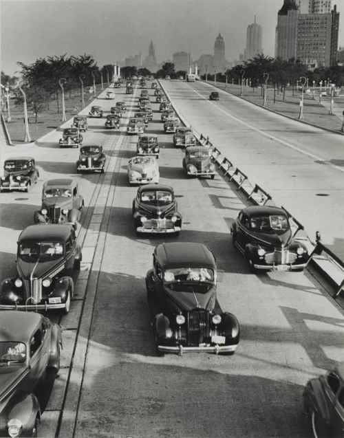 Chicago, Lake Shore Drive, looking South from North Ave. 1941