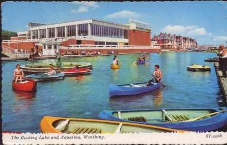 The Boating Lake, Worthing West Sussex England