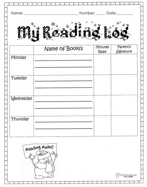 93 Best #Reading & Writing Logs For Kids Images On Pinterest