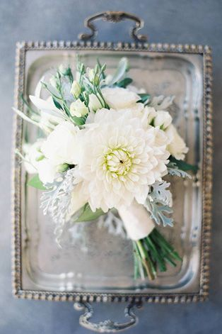 Белые цветы в букете невесты, - The-wedding.ru