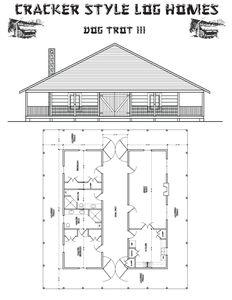 Best 25 dog trot house ideas on pinterest barndominium for Small cracker house plans