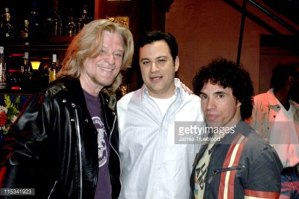 Daryl Hall Host Jimmy Kimmel and John Oates on the 'Jimmy Kimmel Live' show on ABC Photo by Jaimie Trueblood/WireImage/ABC