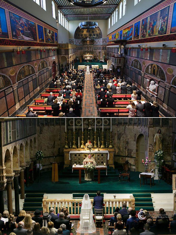 University Church - St. Stephen's Green.Interior church views during the wedding