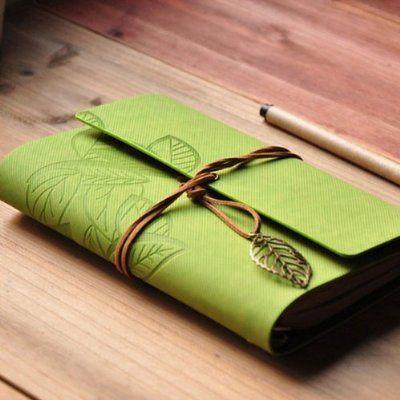 Fairy Season Vintage PU Leather Cover Loose Leaf Blank Notebook Diary Leaf Design Stationery