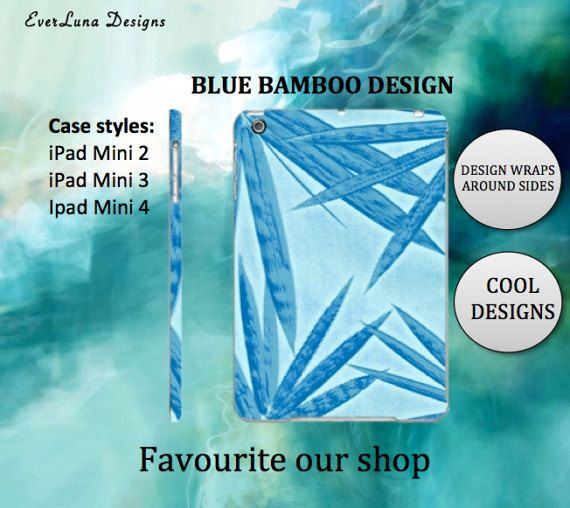 Bamboo Ipad Mini Case Ipad Case Ipad mini Case by EverLunaStore