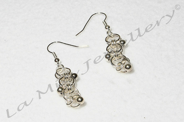 Jump-Ring Drop Earrings - Available in Sterling Silver