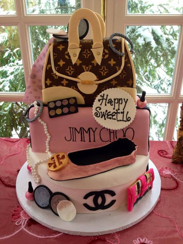 Luxury Cake Design Roma : Girly Designer Birthday Cake by Bella Christie and Lil  Z ...