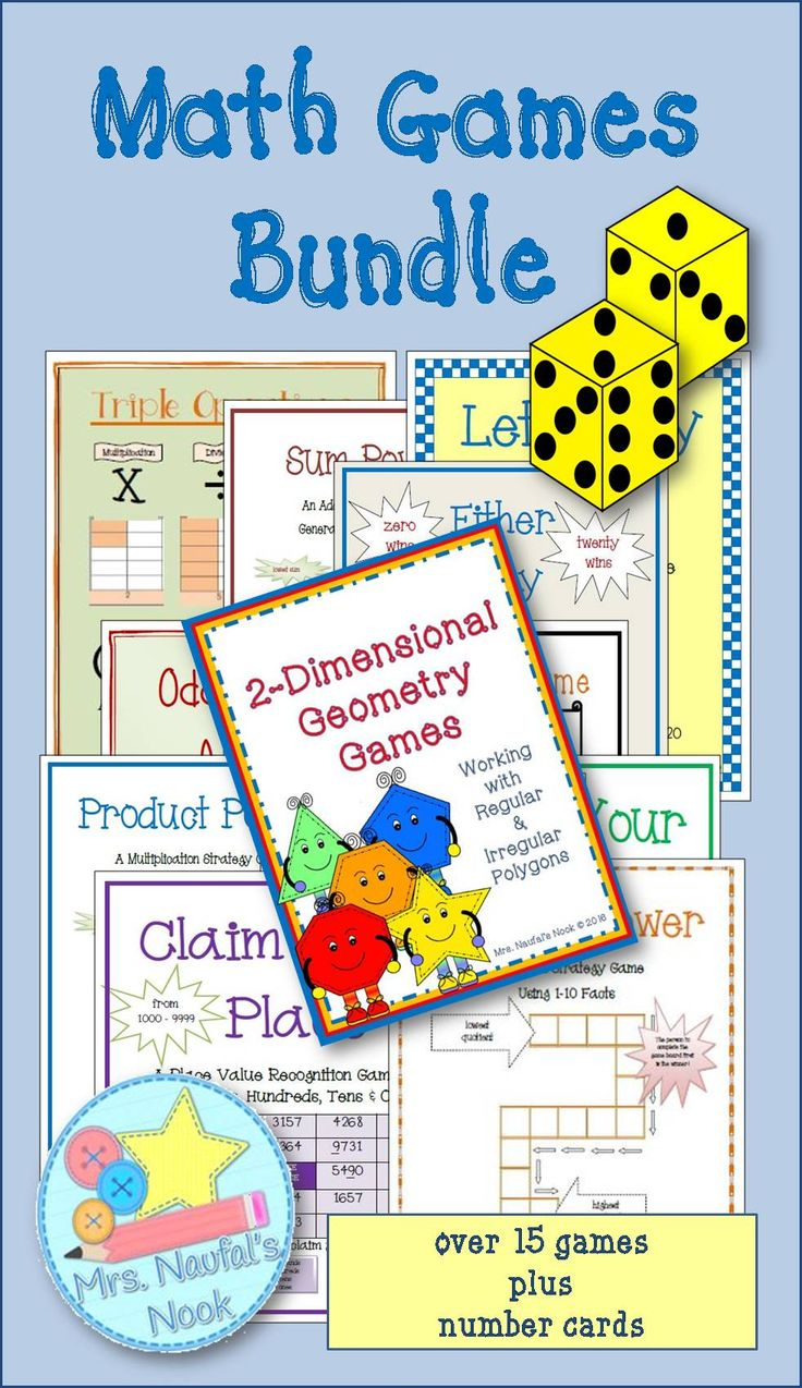 Math games are a great way to reinforce math facts With this resource you