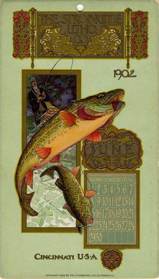June 1902, Strobridge Lithographing Company, from the Strobridge Calendar Card Samples, 1899-1912.