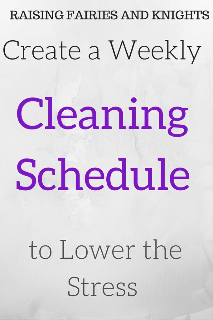Guest Post - Cleaning Schedule - A guest post from Shannon on how to lower your stress and make a practical weekly cleaning schedule to make your life easier.