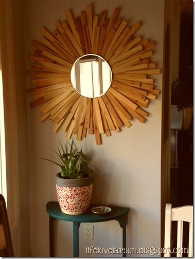 Wall Decor Using Mirrors : Best ideas about sunburst mirror on diy