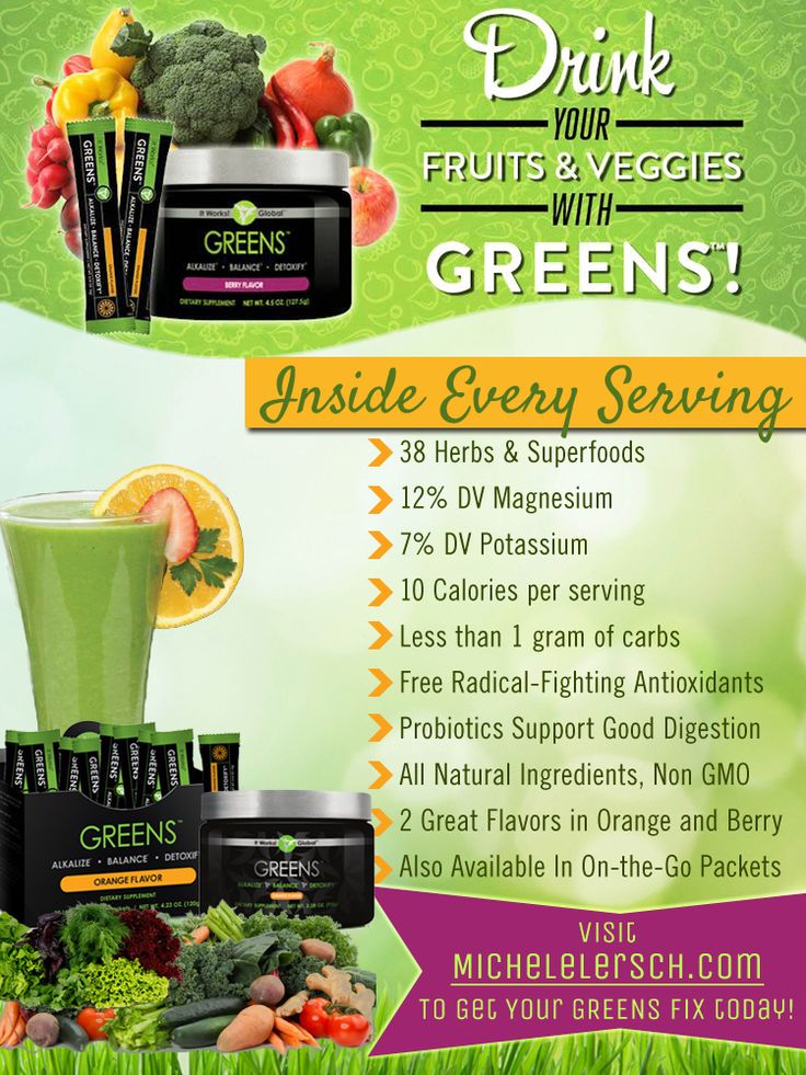 Greens- It Works!- http://www.christystatler.myitworks.com Facebook: Crazy Wrapping with Christy
