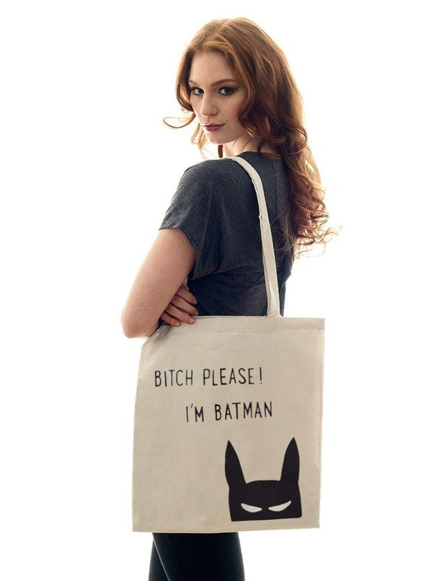"Jutebeutel ""I am Batman!"" // tote bag by jute Beutel via DaWanda.com"