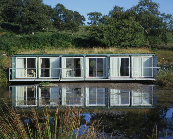 The Cubes, Cove Park. Photograph: Cove Park    Talk about an amazing location for a shipping container home! The Rosneath-based arts center, Cove Park, overlooks the stunning Loch Long in Scotland, and, since 2002, has had a set of container buildings, known as The Cubes. The first three Cubes housed accommodation units, while another two sets of three were built in 2006, as additional residential and studio units.