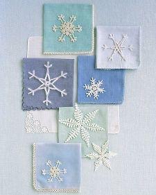 DIY Crocheted Snowflakes