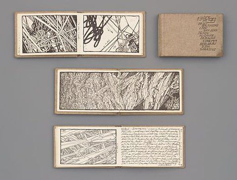 MoMA.org | The Collection | Lebbeus Woods. Four Sketchbooks. 1998-2000
