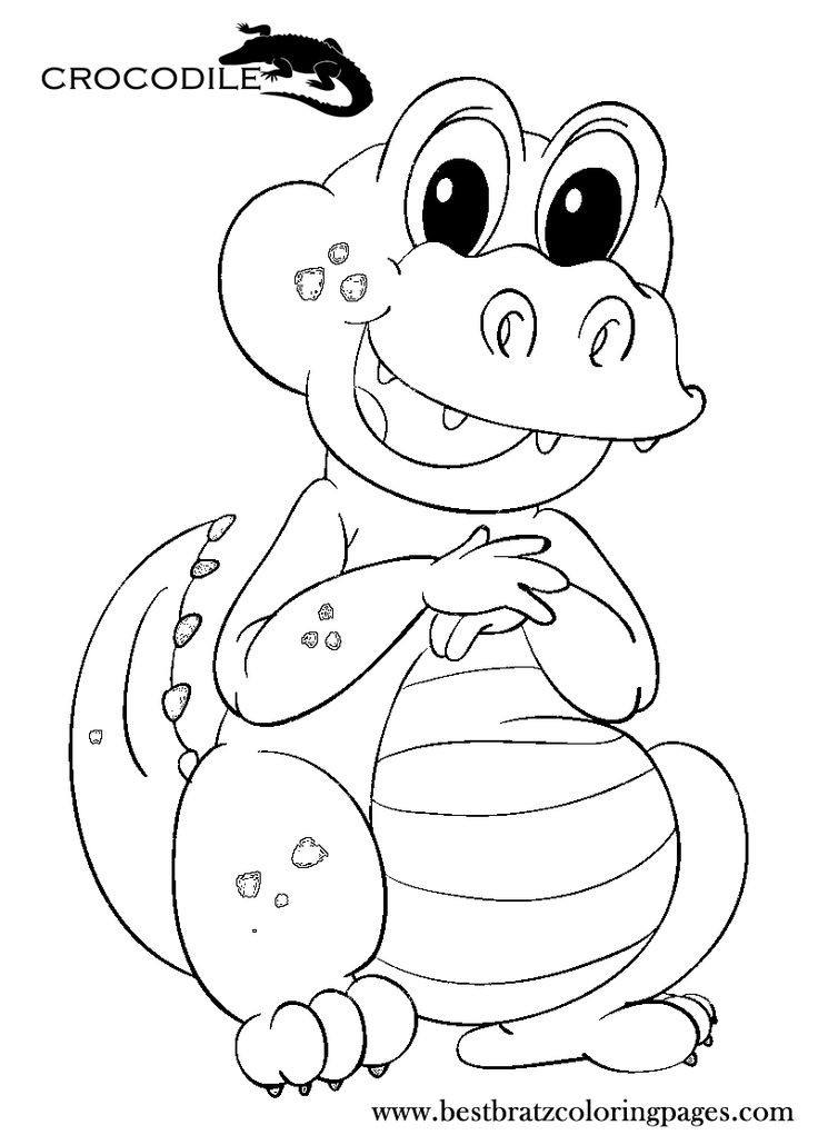 crocodile coloring pages to print bratz coloring pages - Bratz Coloring Book