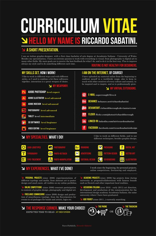 RESUME 2011 BLACK by Riccardo Sabatini on