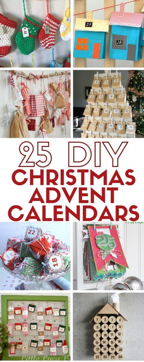 25 easy DIY craft tutorial ideas for your Christmas advent calendar. Countdown to Christmas in a fun and creative way. Great for kids and adults alike! Most Pinned DIY Tutorials