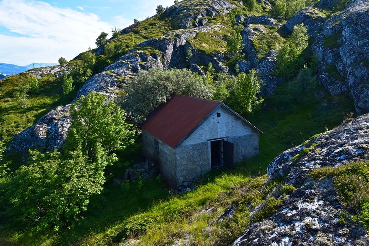 Old abandoned building on an island outside Bodø