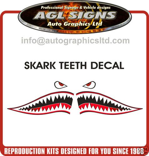 shark teeth decal kayak boat jet ski sticker graphic