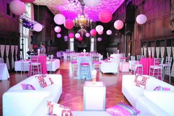 Pink Lanterns & Bat Mitzvah Lounge - mazelmoments.com