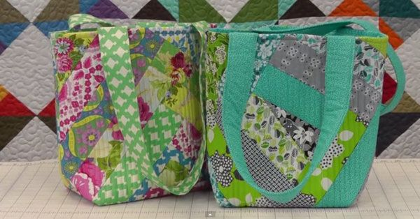 While we love making quilts, it can be really nice to put those skills of ours to use in a different way...try your hands at a quilted hand bag and marvel at the result!