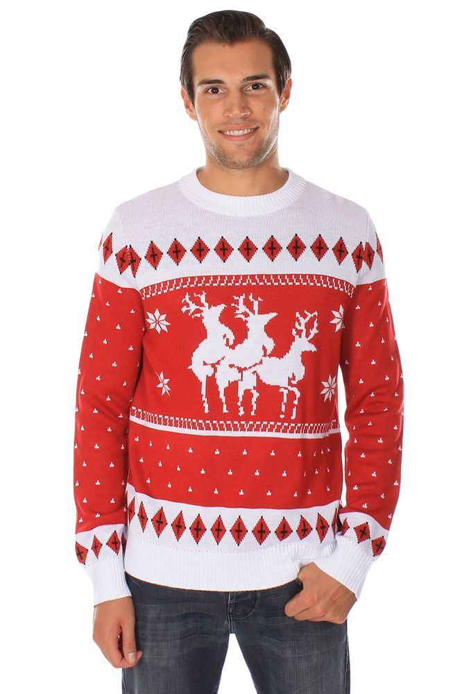 """...  their dirty bedroom habits get permanently memorialized on our Reindeer """"Menage A Trois"""" sweater. Description from tipsyelves.ca. I searched for this on bing.com/images"""
